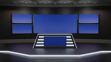 cadre large de studio de télévision d'actualités video