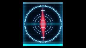Direction Compass High tech hud screen element video
