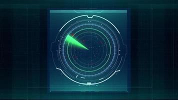 Radar And Target Scanner Futuristic Hud Element Video