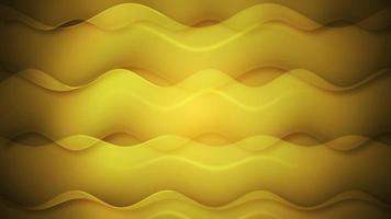 Yellow Translucent waves animated minimal background for social media video