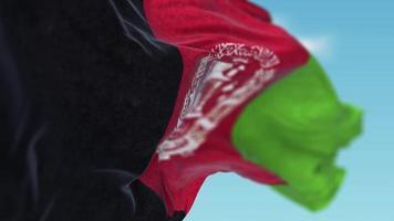 bandeira do Afeganistão balançando ao vento video