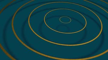 3D concentric circles oscillating Free moderm motion background video