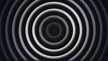 3D monochromatic concentric circles oscillating Free motion background video