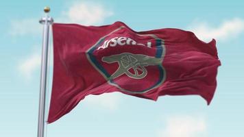 Waving Flag of Arsenal FC video