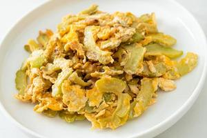 Stir Fried Bitter Gourd with Egg photo