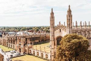 Un alto ángulo de vista de la ciudad de Cambridge, Reino Unido foto