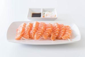 Salmon raw sashimi photo