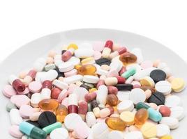 cápsulas y pastillas de colores foto