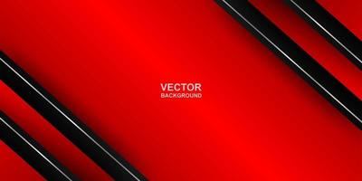Abstract. red - black gradient geometric overlap shape background. vector