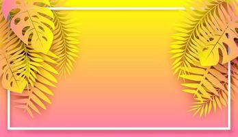 Summer ,Tropical holiday background. vector