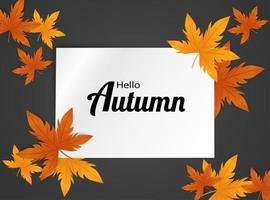 Hello Autumn background. vector
