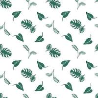 Botanical seamless, abstract leaf art drawing for print and textile vector