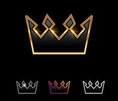 Golden Crown Vector Sign