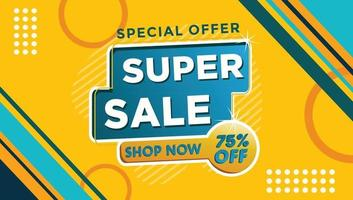 Discount, Flash Sale and offer shopping template banner illustration vector