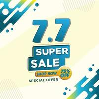 Discount, super Sale and special offer shopping bacground template vector