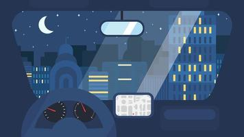 City Life From Car vector
