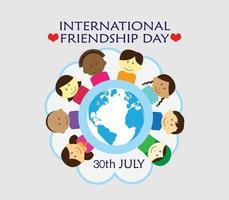 dia internacional de la amistad vector