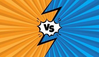 Orange and blue versus background vector