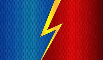 Red blue metal background with lightning vector