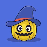 Jack o lantern use witch hat illustration vector