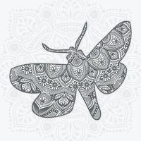 Butterfly Mandala. Vintage decorative elements. vector illustration.