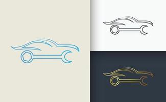 Car Repair Logo design Template set vector