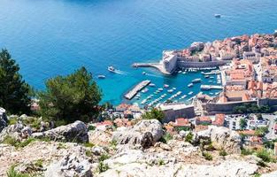 Walking Trail from the top of Mount Sdr to Dubrovnik with a great panoramic view photo
