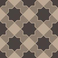 patrón sin costuras con estrellas marrones de ocho puntas vector