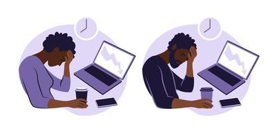 Professional burnout syndrome. vector