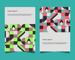 Abstract geometric backgrounds neo geo pattern vector