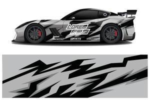 Car decal sticker wrap design vector