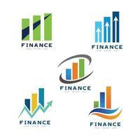 Marketing finance Company Logo design vector