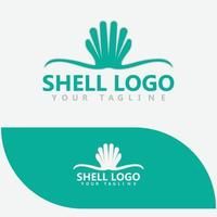 Sea Shell Pearl, Oyster, Seafood, Restaurant Logo Design vector