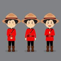 Canadians Character with Various Expression vector