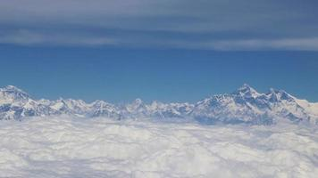 Fight Above Mount Everest in Himalaya video