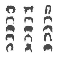 man and woman hairstyle element icon vector illustration