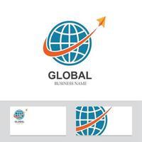 logo,icon company card global vector illustration