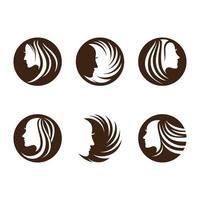 Beauty hair and salon logo vector
