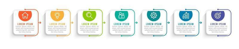 Infographic Design with Icons and 7 Options vector