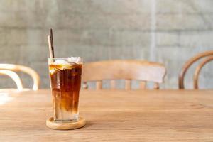 Espresso coffee with coconut juice in coffee shop cafe photo