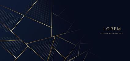 Abstract dark blue layer luxury background  on dark blue background. vector