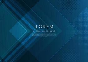 Modern abstract background blue gradient arrow shape overlapping. vector