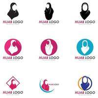 hijab women black silhouette vector icons app-vector
