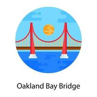 Oakland Bay Bridge vector