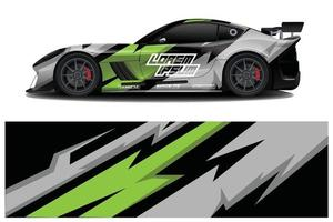 Sports Car Wrapping Decal Design vector