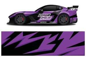 Car Wrap design for company, decal, wrap, and sticker. vector