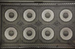 altavoces de audio utilizados por los músicos en los conciertos foto