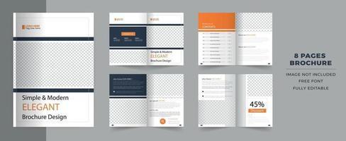 Corporate Bi-fold brochure template, catalog, booklet template. vector