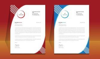 Letterhead format template, business style letterhead design template. vector