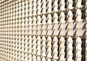 Geometric wall pattern photo